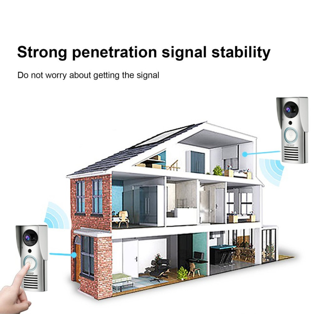 Smart 2.4G Wifi Doorbell HD 1080 x 720P Camera Smart Guard & APP Live-view Infrared Night Vision 180 Degree Wide AngleSmart 2.4G Wifi Doorbell HD 1080 x 720P Camera Smart Guard & APP Live-view Infrared Night Vision 180 Degree Wide Angle
