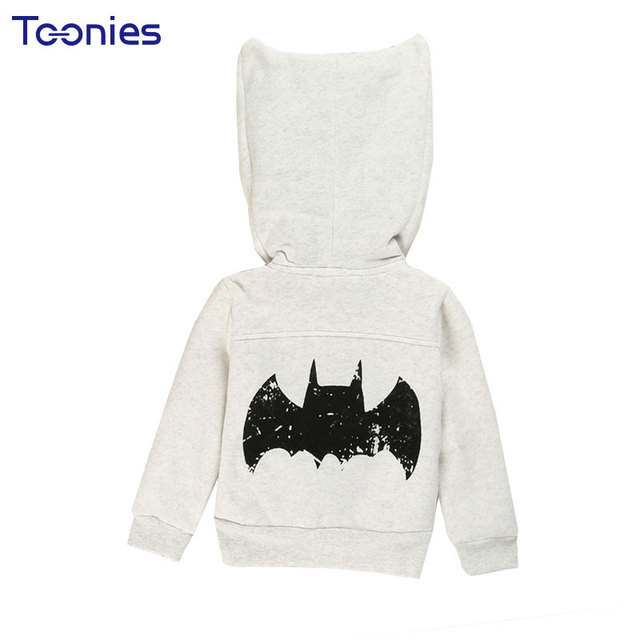 e9094cfd5 Spring Autumn Light Grey Boys Girls Jacket Baby Girls Clothes Hooded ...