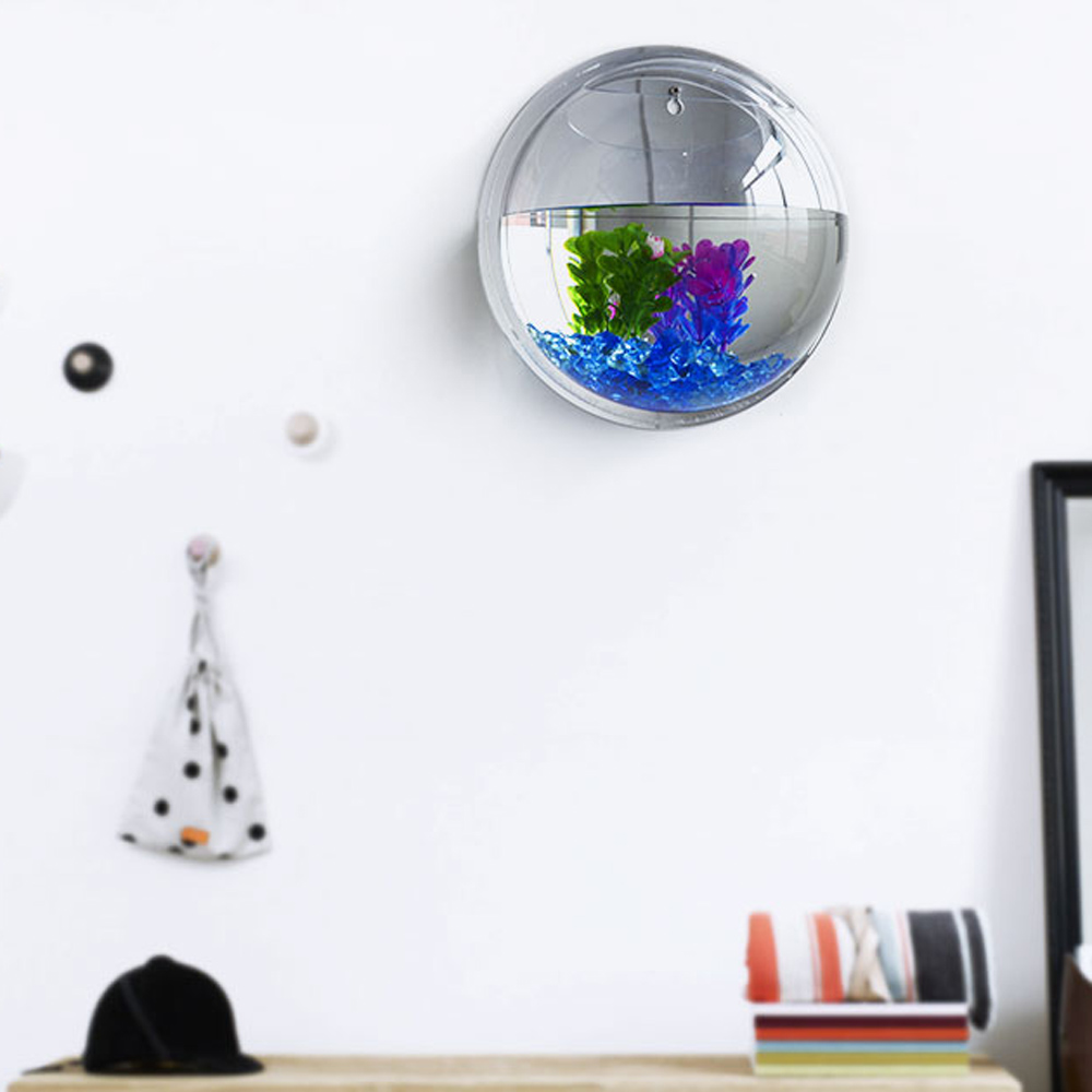 Fish tank acrylic - Wall Mounted Fish Tank For Home Decoration Modern Aquarium Products Hanging Fishbowl Acrylic Fish Plant
