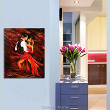 Handpainted Modern Abstract Oil Painting Elegant Hot Cha Dance No Framed Home Decoration Canvas Art