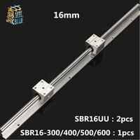무료 배송 sbr16 레일 길이 300mm ~ 600mm 1 pc 선형 가이드 2 pcs sbr16uu 세트 라우터 부품 선형 레일