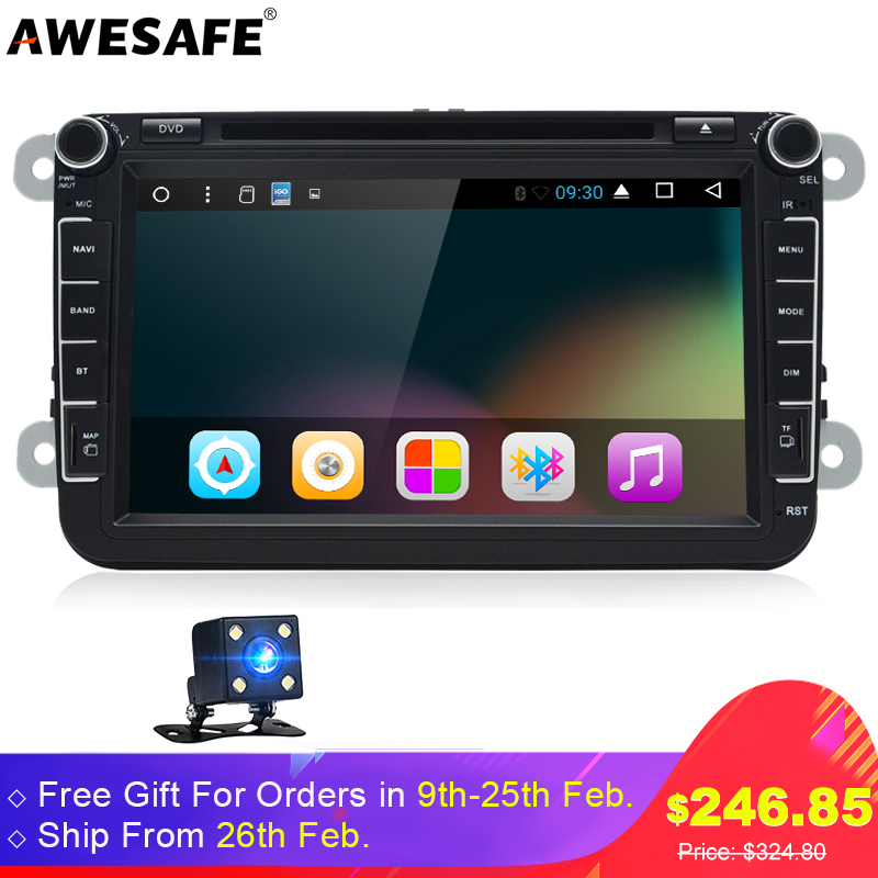 AWESAFE T38 2 Din Android 6 0 Car DVD 8 Player 2GB RAM Radio Bluetooth T3