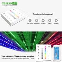YLSTAR 12 В 24 в 4 канала RGBW led панель управления 2,4 г беспроводной 4 зоны RF пульт дистанционного управления Сенсорная панель настенный RGBW светодио...