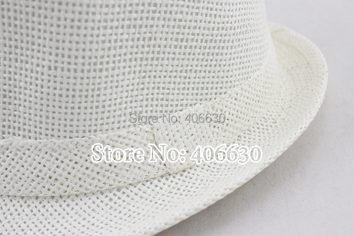 56cm Kids White Straw Fedora Hats For Children Boys Summer Jazz Hats Baby  Top Hat ... de5d40b57f7c