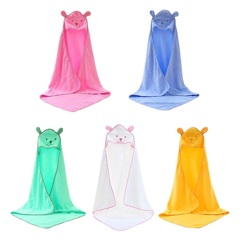 2018 Hot Sale Baby Boys Girls Cloak Towels Newborn Cotton Bath Towel Infant Soft Cartoon Hooded Towel