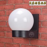 Открытый водонепроницаемый свет акрил настенный светильник светодиодный шар настенный светильник балкон коридор отель кафетерий лестниц...