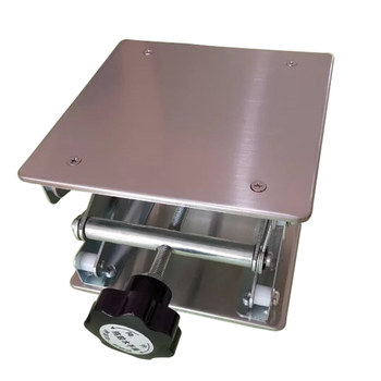 "Lifting Platform Adjustable Laboratory Lift Stainless Steel Lab Stand Table Scissor Lifter Mini Hand Elevator 10"" 25CM H 330mm"