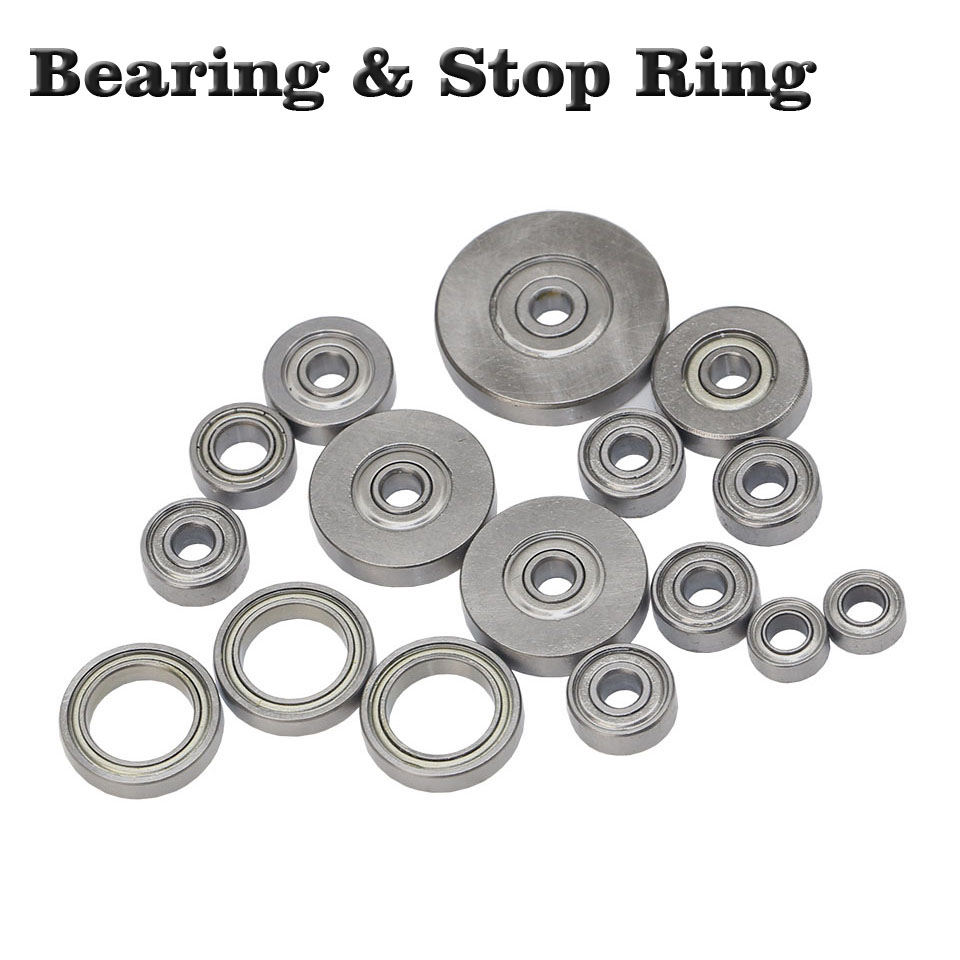 5pc Top Mounted 1/2, 3/8, 3/4 Bearing & Stop Ring For 1/4