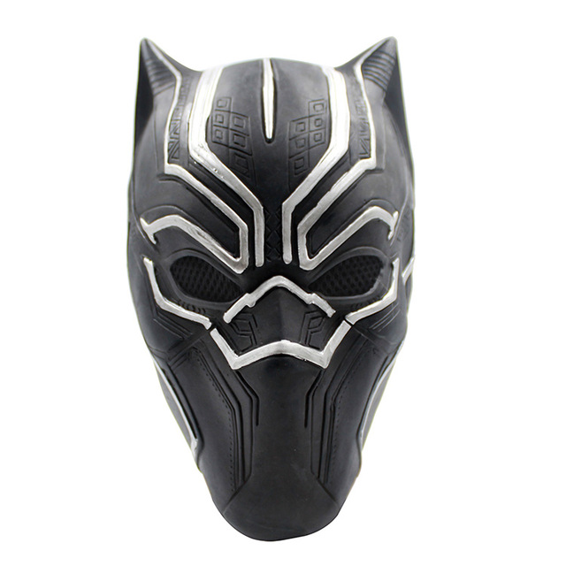Free shipping New Black Panther Masks Movie Fantastic Four Cosplay Men's Latex Party Mask for Halloween