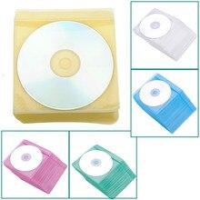 Горячая распродажа 100 шт CD DVD Прозрачный чехол для хранения сумка PP сумка портативный защитный держатель для конвертов Органайзер Сумка