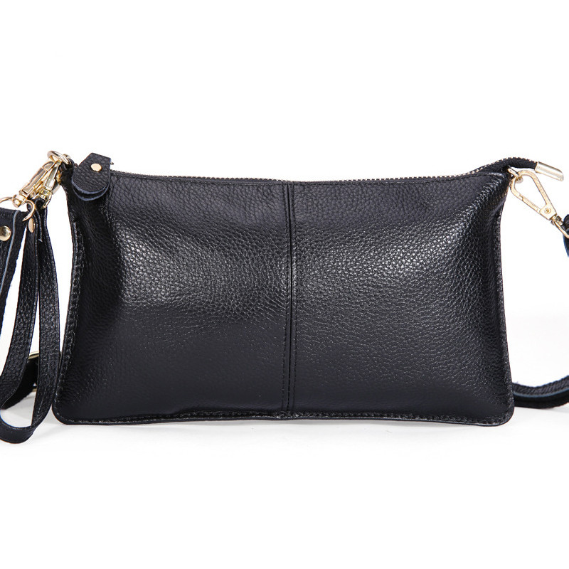 2017 Fashion New 100% Genuine Leather Envelope Clutch Designer Handbags Womens Female Evening Bags
