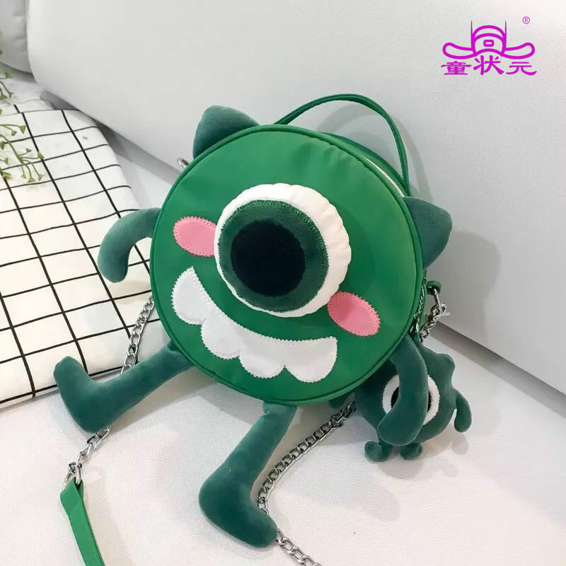 2018 The New Fashion Funny Cartoon Character PoPeyes Green Buns Chain Shoulder Satchel Cute Adorable Handbag