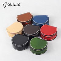 Top Quality Genuine Leather Coin Pocket Black Blue Green Wallets Bags Cute Monkey Earphone Storage Bag