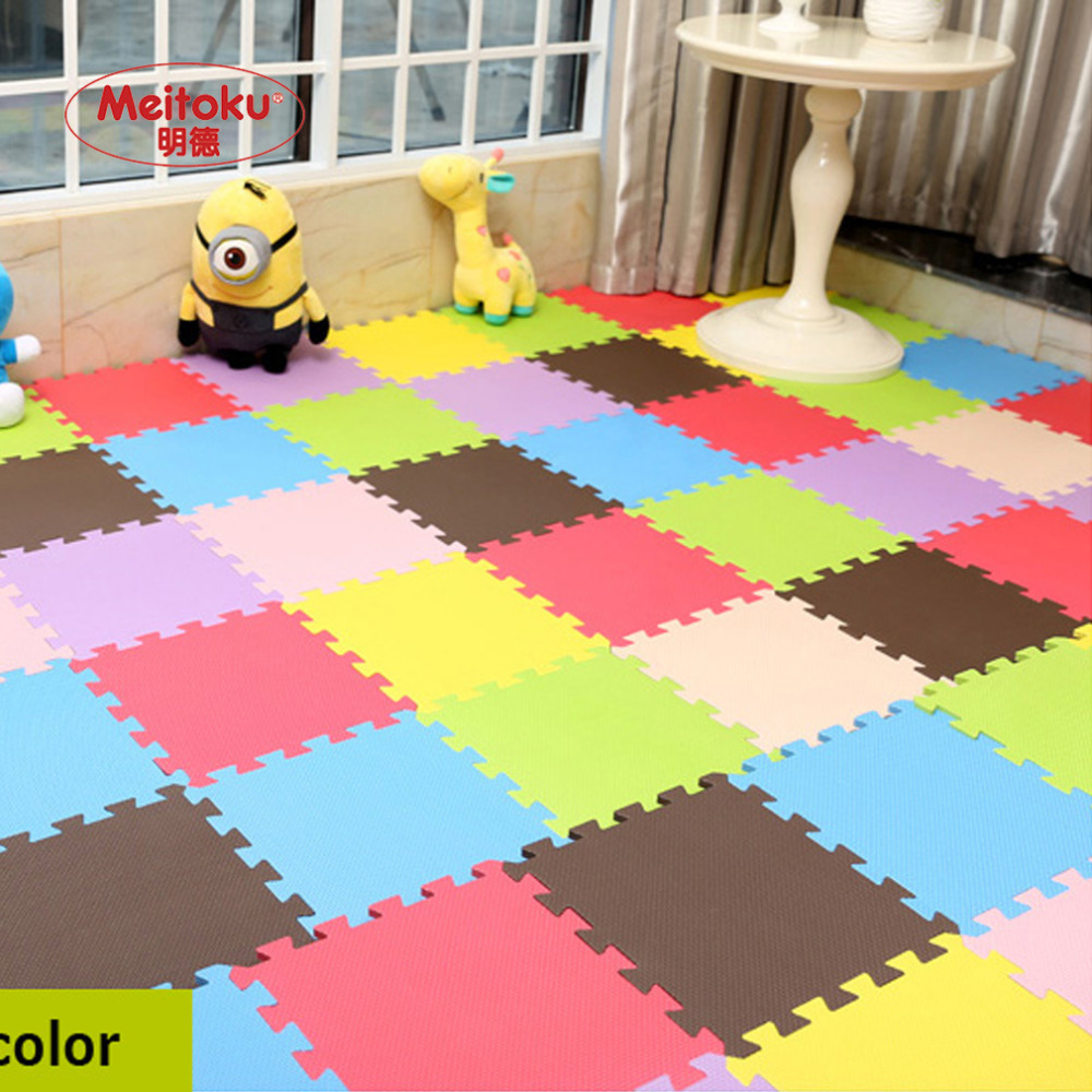 Floor mats interlocking tiles - 12pcs Set Baby Toys Eva Foam Puzzle Play Mat Interlocking Tiles Protection Floor Rug