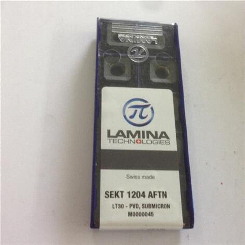 SEKT1204AFTN LT30 CNC blade carbide insert 10pcs lot