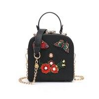 Chinese Style Women Shoulder Bag Chain Strap Flap Butterfly Flower Pearl Designer Handbags Clutch Bag Ladies Messenger Bags