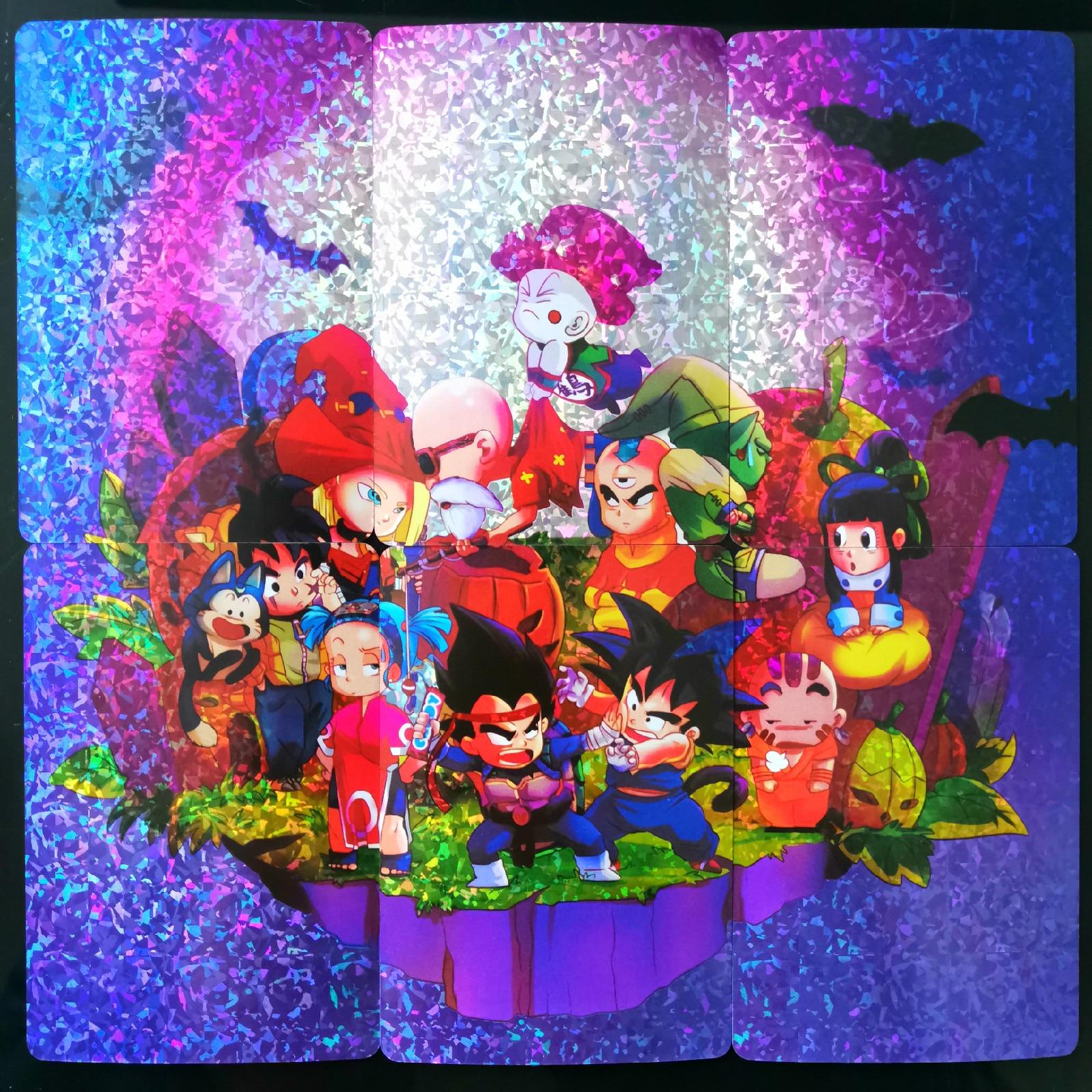6pcs/set Q Version Of Dragon Ball Z Card Collection Anime Card