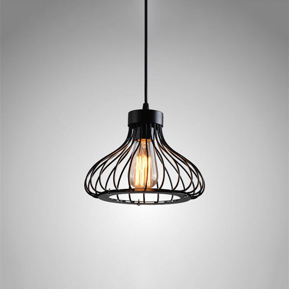 AC110 220V Wrought Iron Pendant Lamp Modern Tea Store Cafe