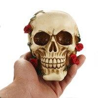 Halloween Skull Silicone Mold 3D Rose Skull Head Soap Cake Chocolate Fondant Cake Mold Kitchen Handmade
