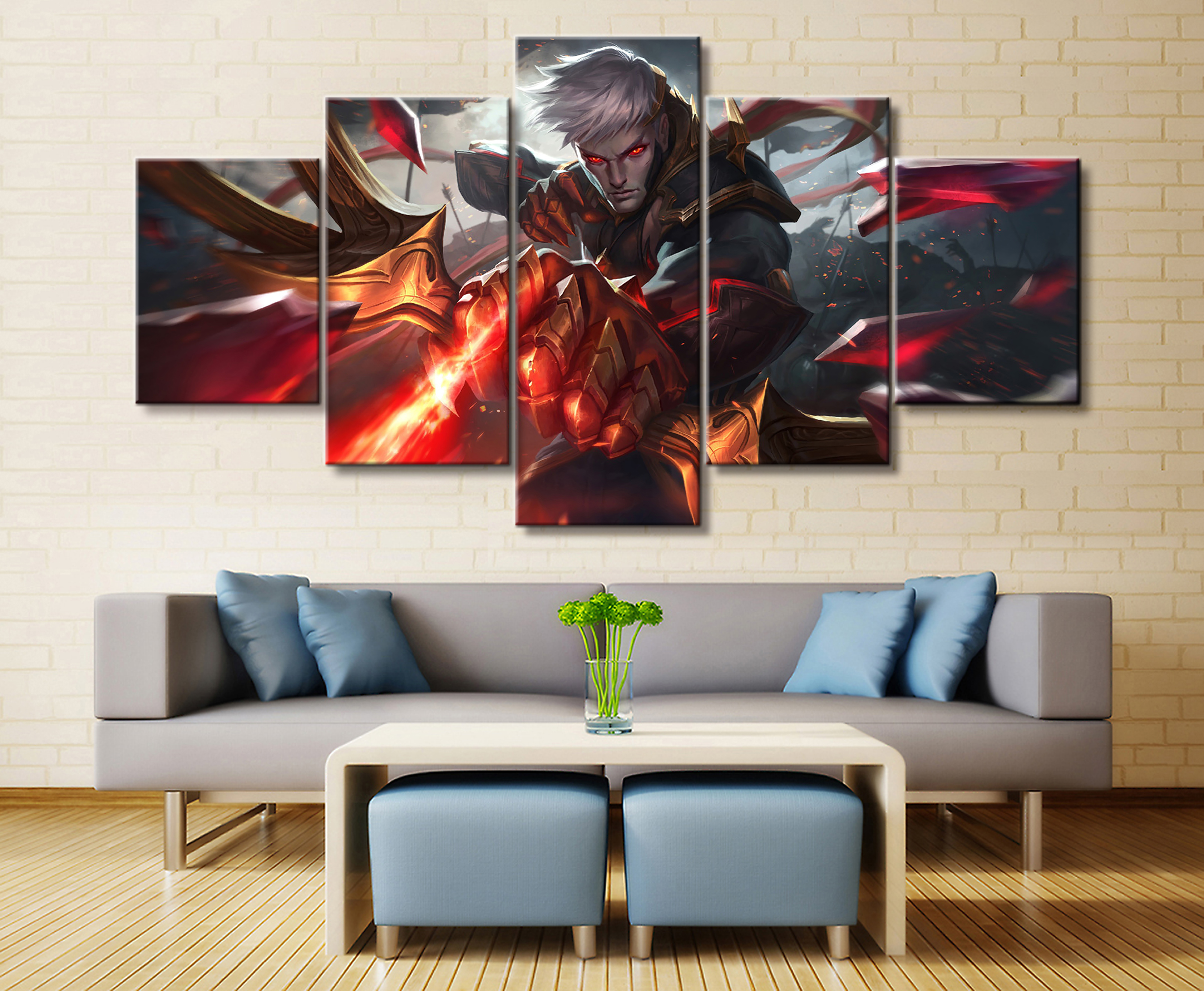 Home Decor Modular Picture Canvas Painting 3 Piece My Hero Academia Animation Poster Wall For Living Room Modern
