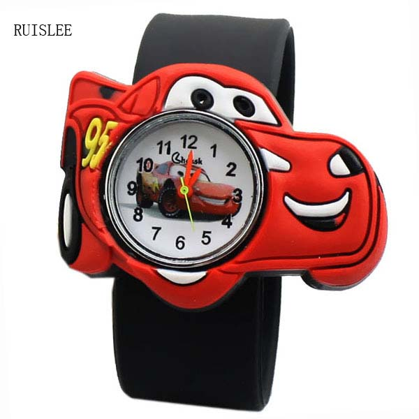 Ruislee Cartoon Child Silicone Boy Watch Children Kids Students Cartoon Student Watch Men Watches Relojes hombre