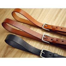 LANSPACE מותג בעבודת יד גברים של עור חגורות סיטונאי פנאי ג ינס חגורה