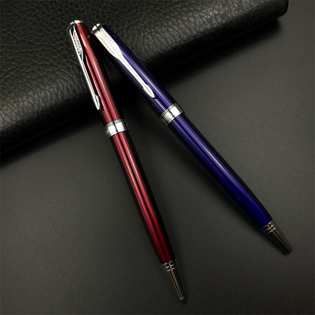Free Shipping STOHOLEE Brand Metal Ballpoint Pen Red Blue Novelty Pens  Stationery School Office Supplies Writing