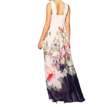 Multicolorful Floral Printed Summer Dress Women 2017 Sleeveless Party Dresses Elegant Long Vestido De Festa Retro Zomer Jurk
