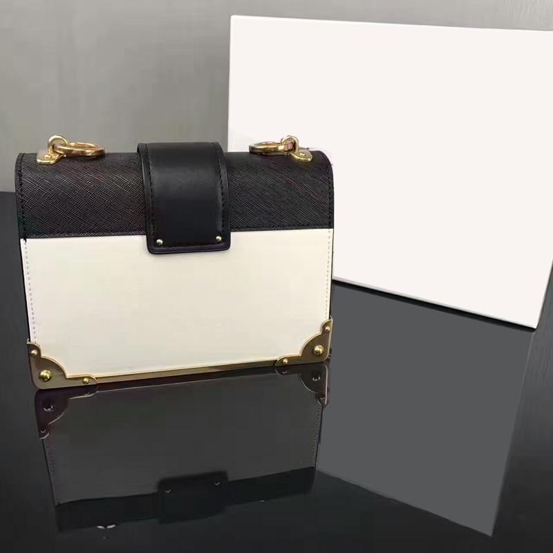 цена  2017 real leather great quality summer FLAP BAG Black leather shoulder bag Chalk White woman handbag golden hardware with chain  онлайн в 2017 году