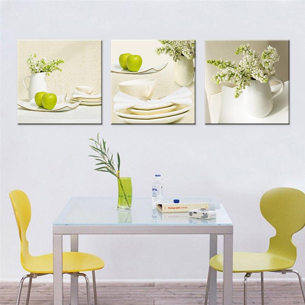 online get cheap apple green kitchen aliexpress com alibaba group drop shipping green apple modern kitchen home decoration hd print cuadros decoration canvas wall art