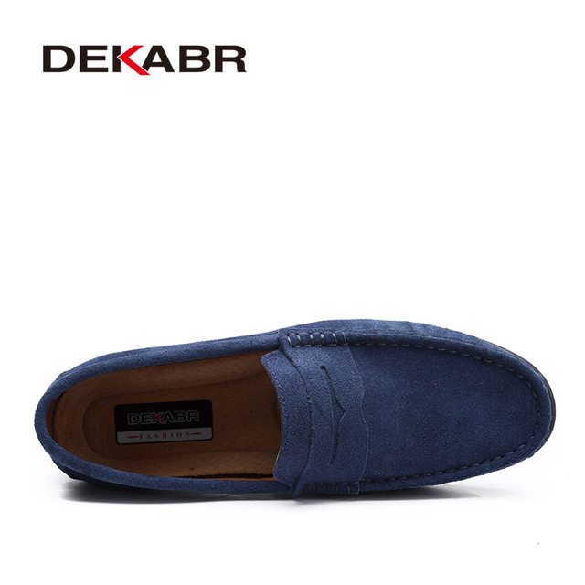 DEKABR Brand Spring Summer Hot Sell Moccasins Men Loafers High Quality Genuine Leather Shoes Men Flats Lightweight Driving Shoes 2