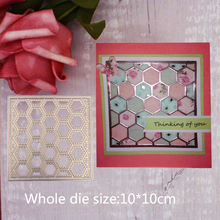 Grid Metal Steel Cutting Embossing Dies For Scrapbooking paper craft home decoration Craft 10*10 CM