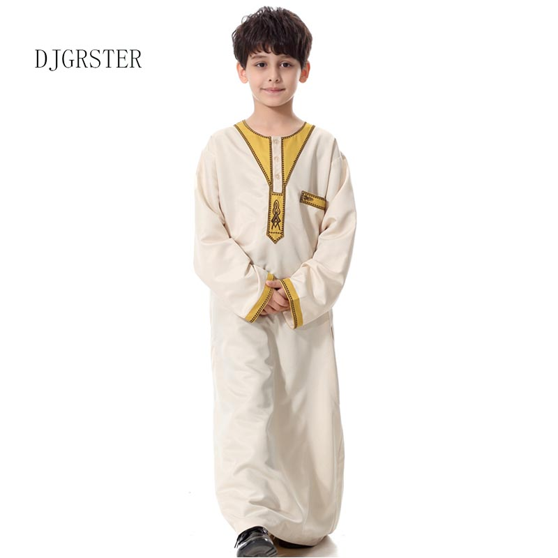 DJGRSTER Men's Kaftan Abaya Boy Jubba Islamic Robes Muslim Jubba Thobe Clothing Islam Apparel Clothing Muslim Male Dress Islamic