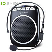 SHIDU Tragbare Verstärker Stimme Megaphon Mini Audio Lautsprecher Mit Mikrofon Wiederaufladbare Ultraleicht Lautsprecher Für Lehrer 308