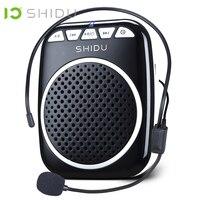 SHIDU Portable Voice Amplifier Megaphone Mini Audio Speaker With Microphone Rechargeable Ultralight Loudspeaker For Teachers 308