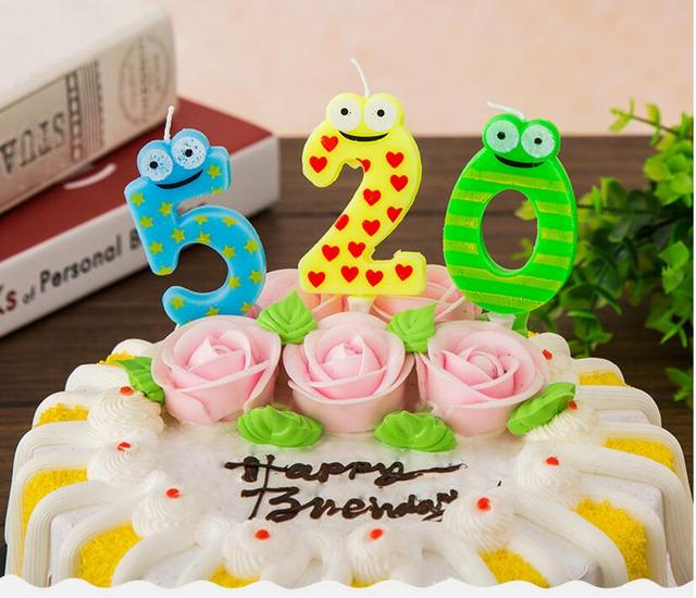 10pcs Lot Creative Cartoon Frog Birthday 0 9 Numbers Candles Happy Candle Cake Cupcake Topper Party Decoration