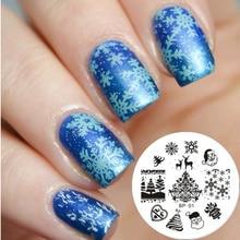 Christmas XMAS Nail Art Stamp Template Image Plate BORN PRETTY BP 01 Nail Tool