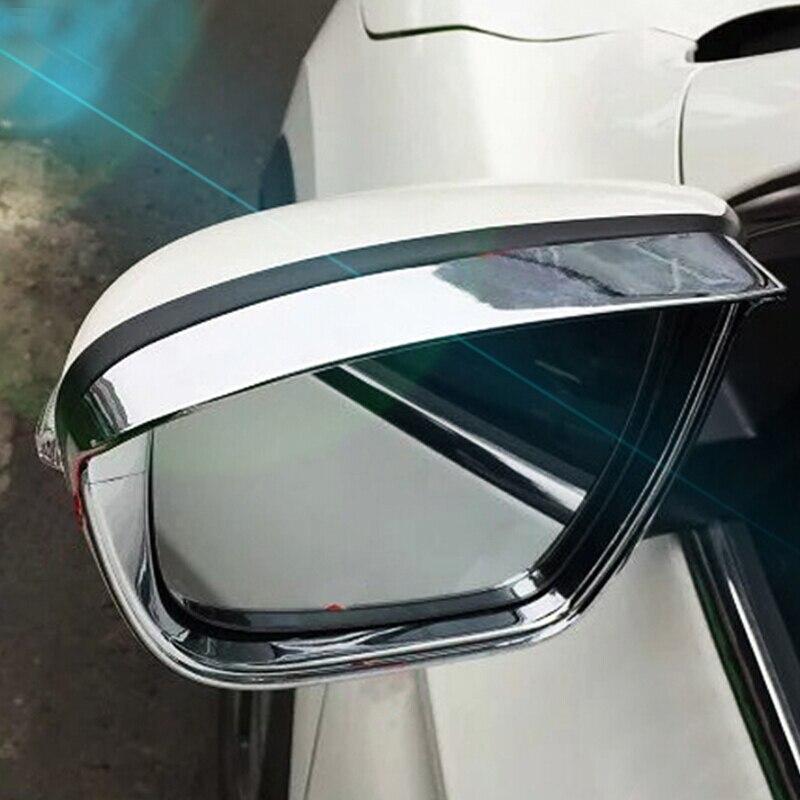 Para Nissan NAVARA NP300 accesorios 2015, 2016, 2017, 2018 ABS cromo espejo retrovisor para coche de lluvia moldura de cubierta de Marco estilo 2 uds
