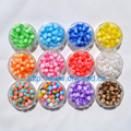 100 pcs DIY Bracelet Accessory Handcraft Department 12 Color 8MM Round Shape translucent Resin Stripe Beads jewelry Findings