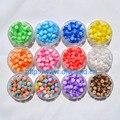 100 pcs Pulseira DIY Acessório Artesanato Departamento 12 Cor 8 MM Forma Redonda translúcida Resina Listra Beads Resultados Da jóia