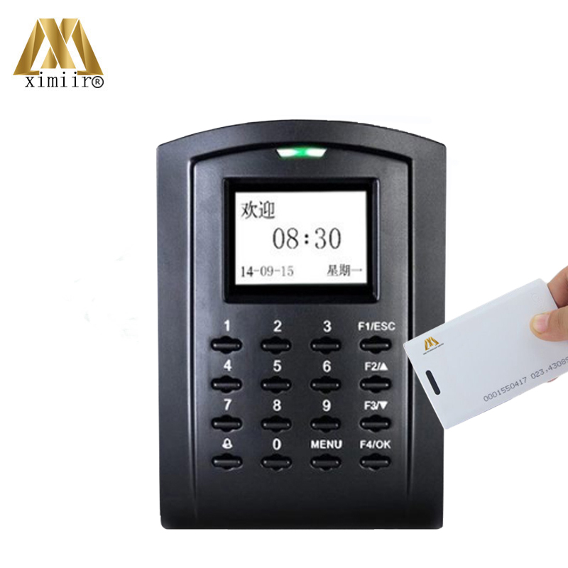 ZK Card Time Attendance Machine SC103 With RFID Card And ADMS Function Standalone Door Access Control System