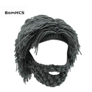 94fe41c8c103 BomHCS Funny Mask Beanies Wig Beard Hats Warm Winter Caps