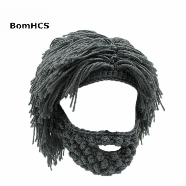 Bomhcs Funny party máscara gorros peluca barba sombreros Hobo Mad ...