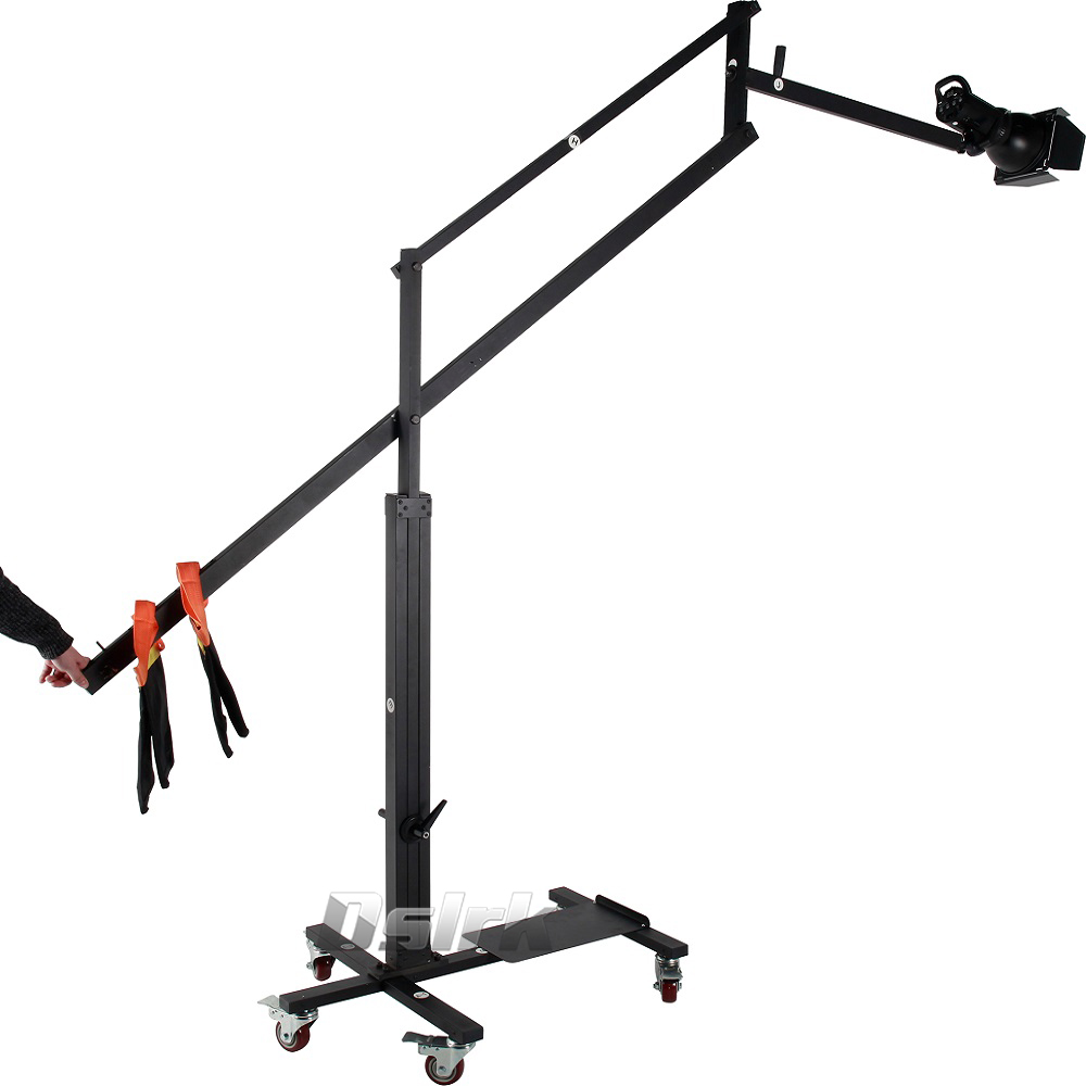 ASHANKS Top Balance Boom Arm stand with dolly wheels Large size Light Stand Kits Load to 10KG for studio Flash Light Softbox