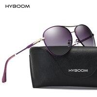 HYBOOM Luxury Ladies Aviator Sunglasses Polarized Women 2018 Brand Designer Outdoor Fashion Driving Sun Glasses Pink