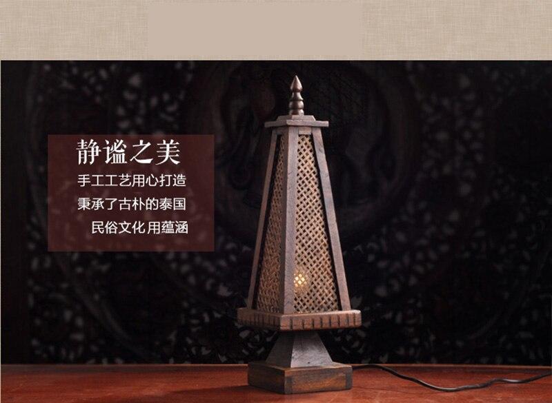 Acquista stile dispone di bambù tessuto lampada da comodino camera
