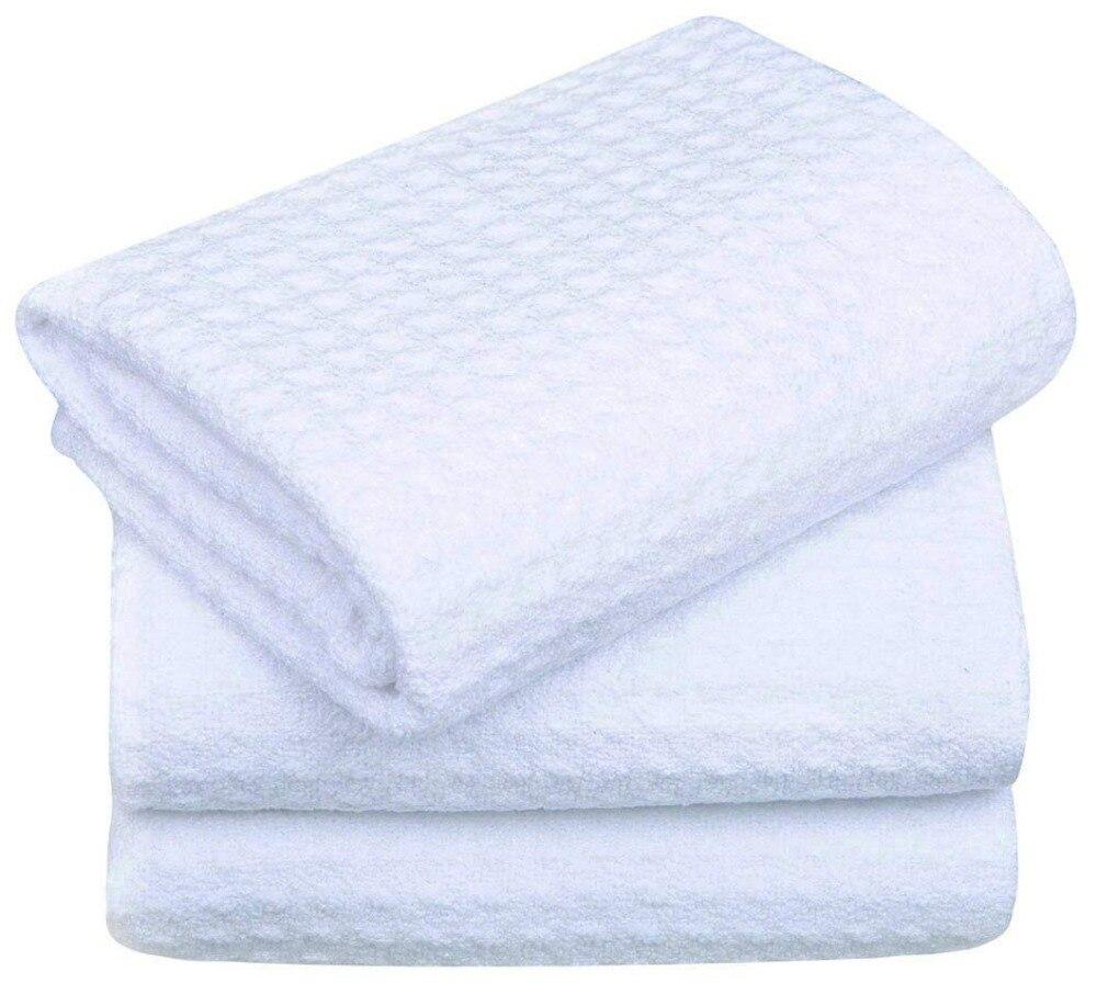 SINLAND Panos de Microfibra Waffle Weave Mão Rosto Toalhas de Cozinha Microfibra Panos de Prato Secagem Rápida 40 cm x 60 cm 3 pcs Branco