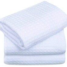 SINLAND вафельные полотенца из микрофибры для мытья кухонных полотенец, быстросохнущие полотенца из микрофибры 40x60 см, 3 упаковки, белый цвет