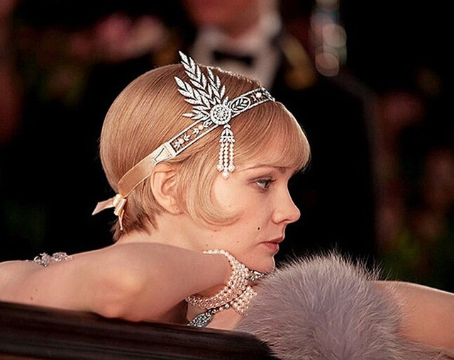 2016 Bridal hat Hair Accessories The Great Gatsby Daisy Crystal Pearls Tassels Crown Hair Hoop Headband Wedding bridal accessory