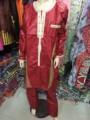 (Бесплатная доставка) Новая мода Африканская Выскочка человек riche Базен традиционный Африканский хлопок 100% рукав одежды мужчин брюки костюм PH1